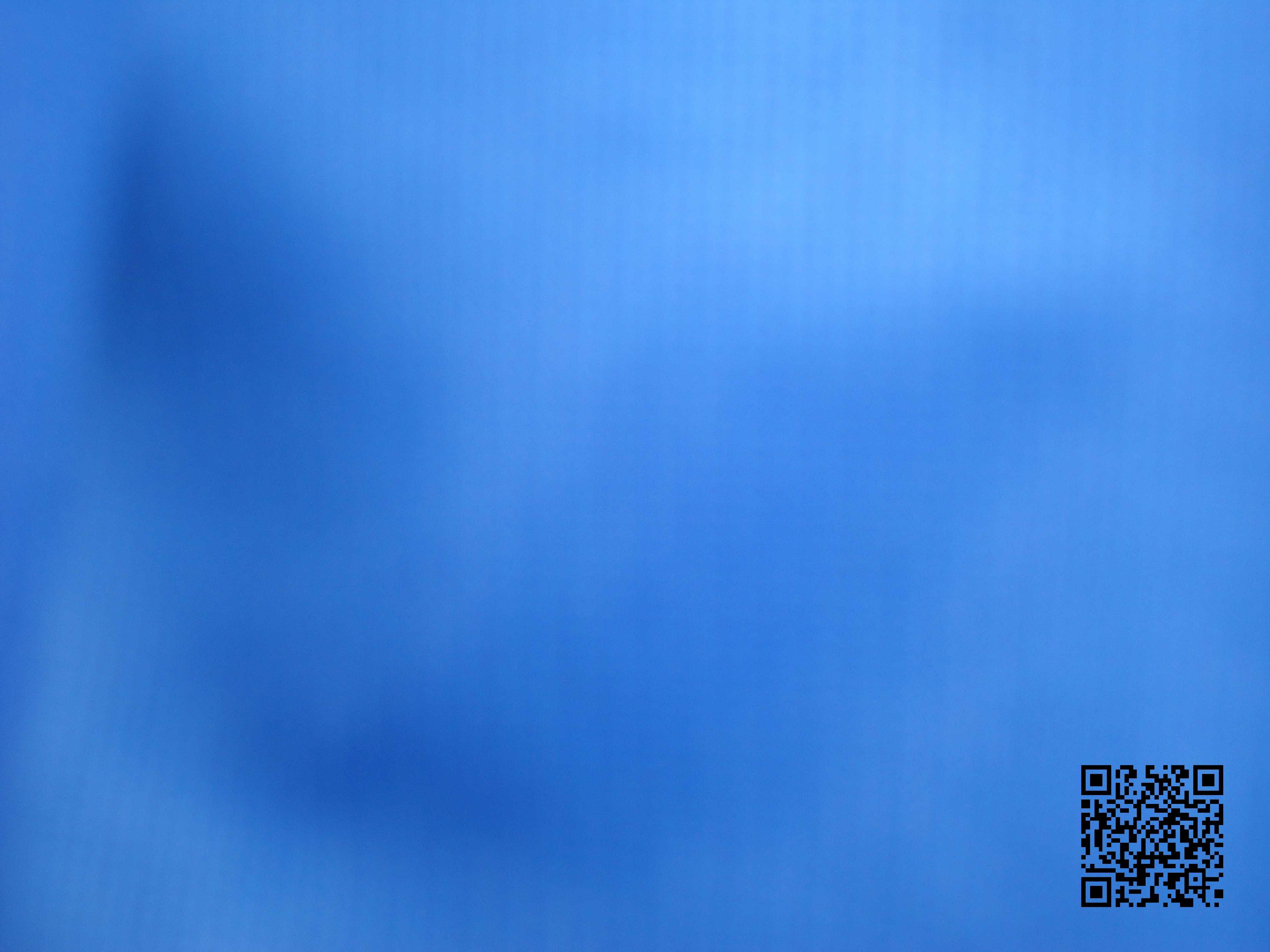 blue painting with QR code
